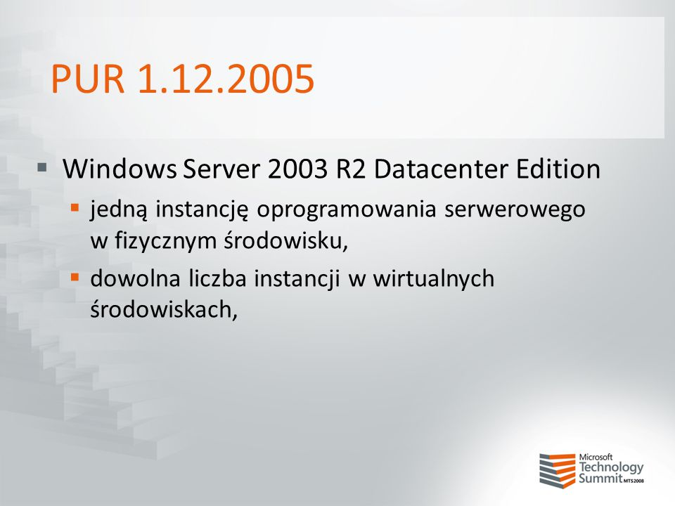 PUR 1.12.2005 Windows Server 2003 R2 Datacenter Edition
