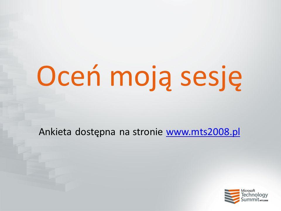 Ankieta dostępna na stronie www.mts2008.pl