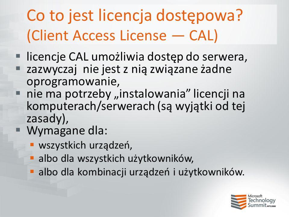 Co to jest licencja dostępowa (Client Access License — CAL)