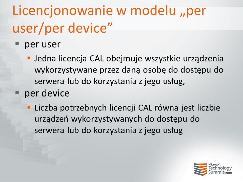 """Licencjonowanie w modelu """"per user/per device"""