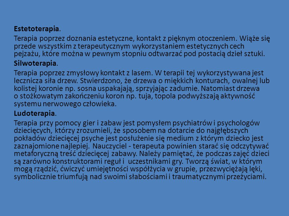 Estetoterapia.