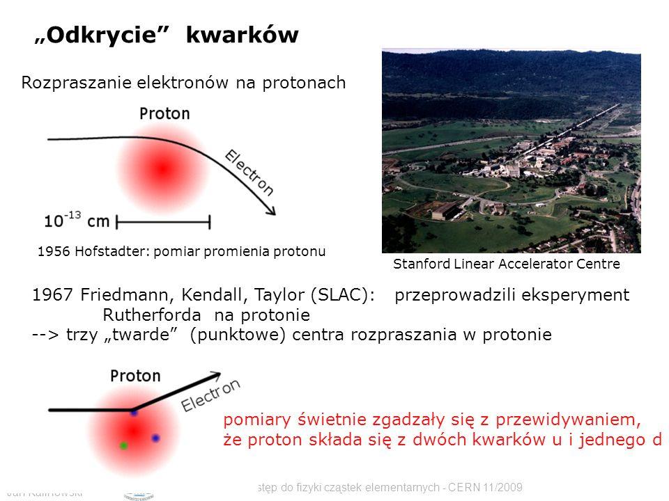 """""""Odkrycie kwarków Rozpraszanie elektronów na protonach"""