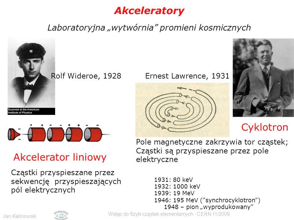 Akceleratory Cyklotron Akcelerator liniowy