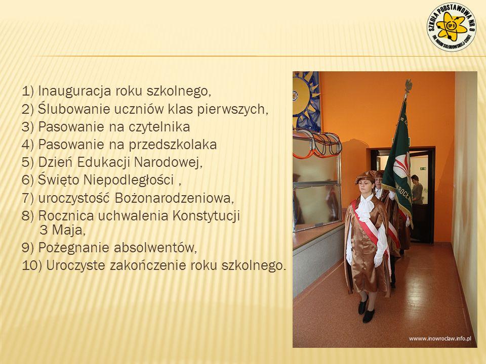 1) Inauguracja roku szkolnego,