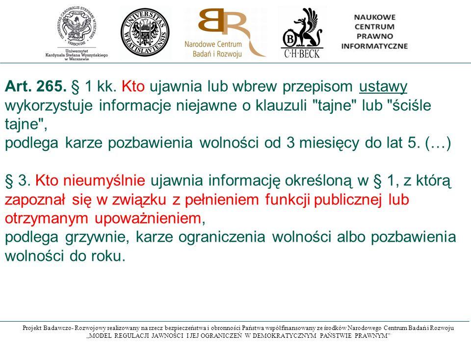 Art. 265. § 1 kk.