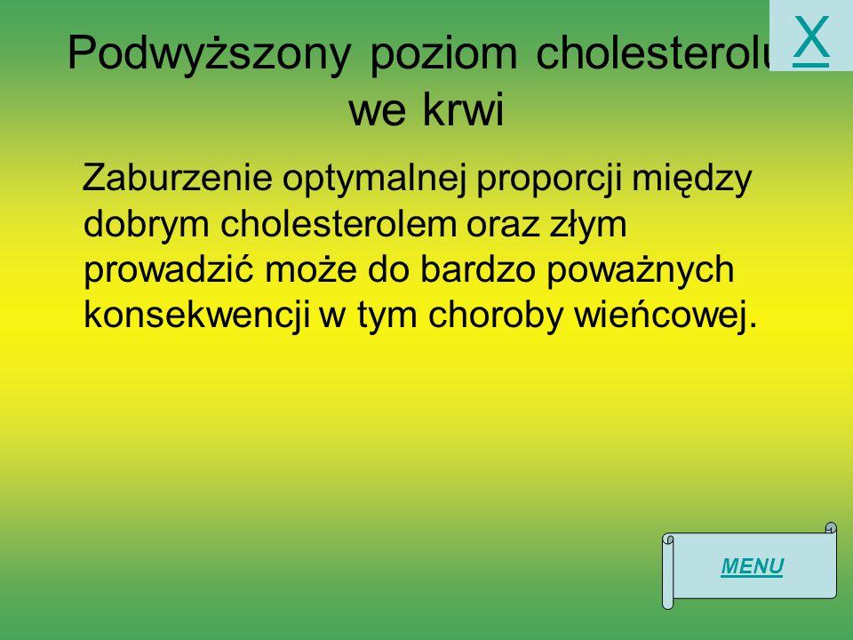 Podwyższony poziom cholesterolu we krwi