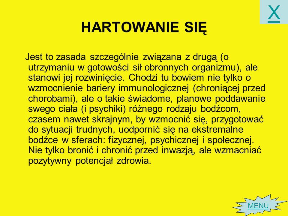 X HARTOWANIE SIĘ.