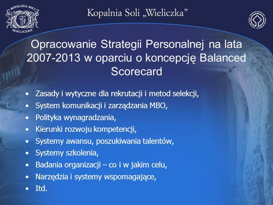Opracowanie Strategii Personalnej na lata 2007-2013 w oparciu o koncepcję Balanced Scorecard