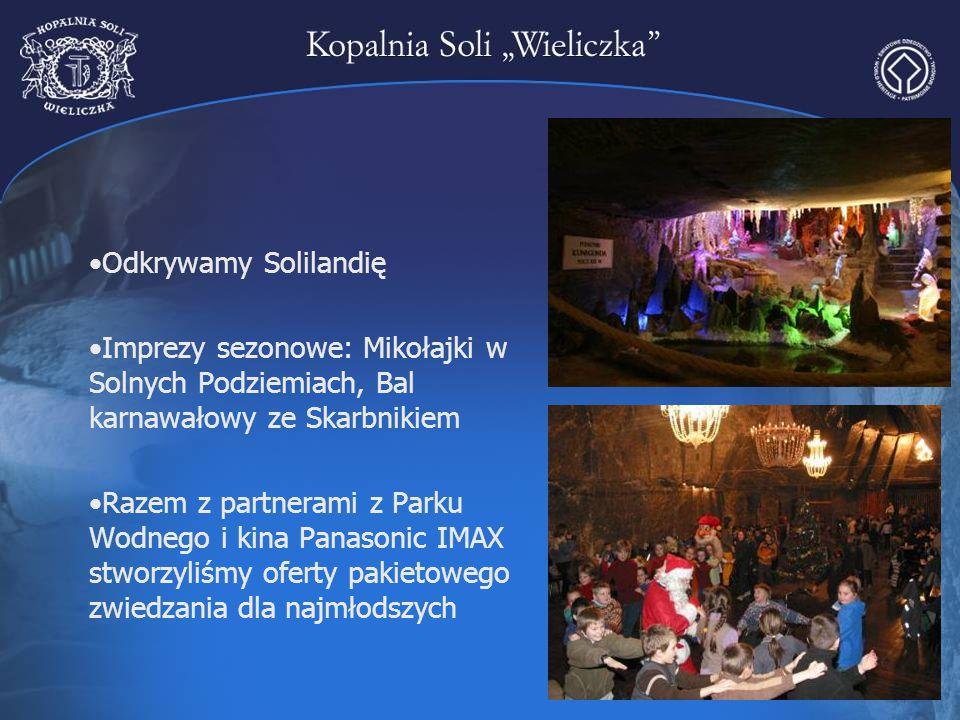Odkrywamy Solilandię Imprezy sezonowe: Mikołajki w Solnych Podziemiach, Bal karnawałowy ze Skarbnikiem.