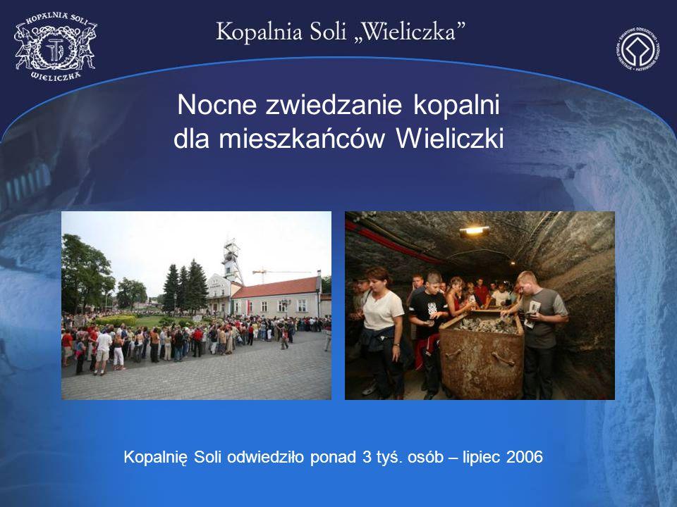 Nocne zwiedzanie kopalni dla mieszkańców Wieliczki
