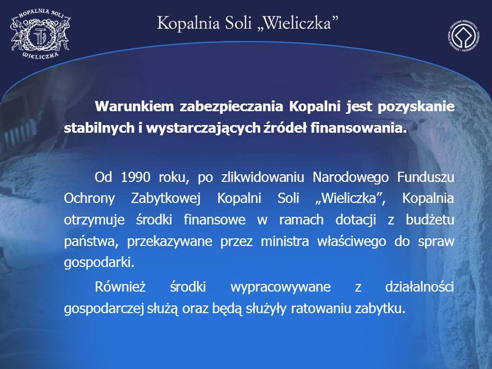 Warunkiem zabezpieczania Kopalni jest pozyskanie stabilnych i wystarczających źródeł finansowania.