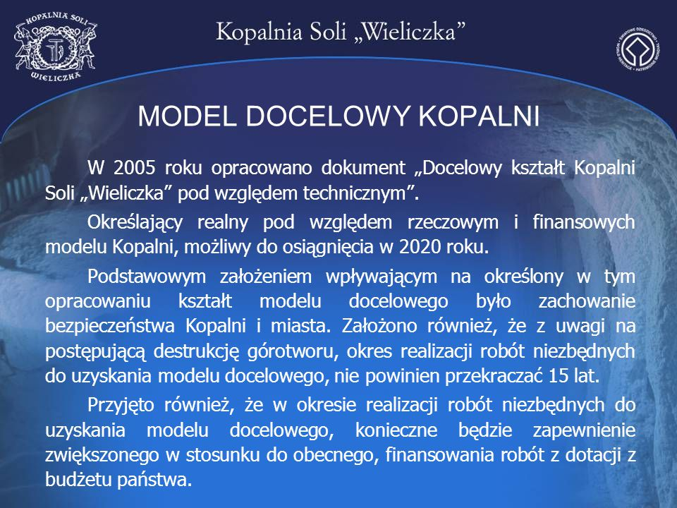 MODEL DOCELOWY KOPALNI