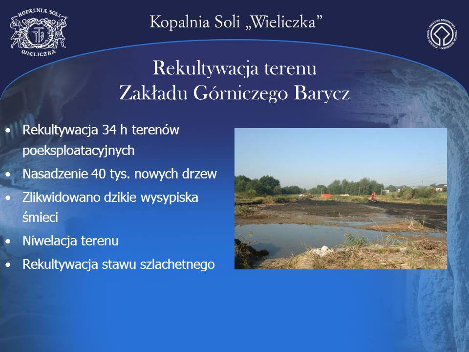 Rekultywacja terenu Zakładu Górniczego Barycz