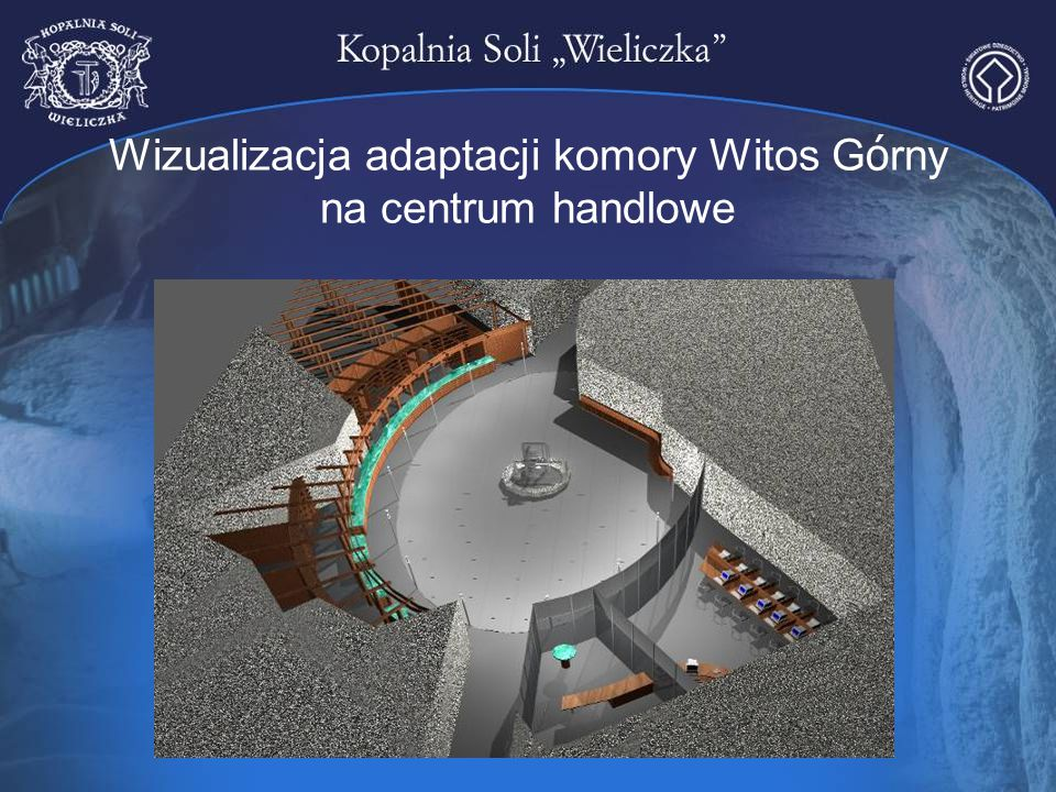 Wizualizacja adaptacji komory Witos Górny na centrum handlowe