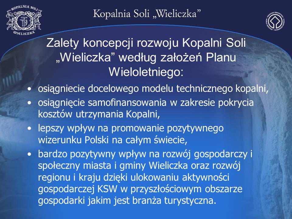 """Zalety koncepcji rozwoju Kopalni Soli """"Wieliczka według założeń Planu Wieloletniego:"""