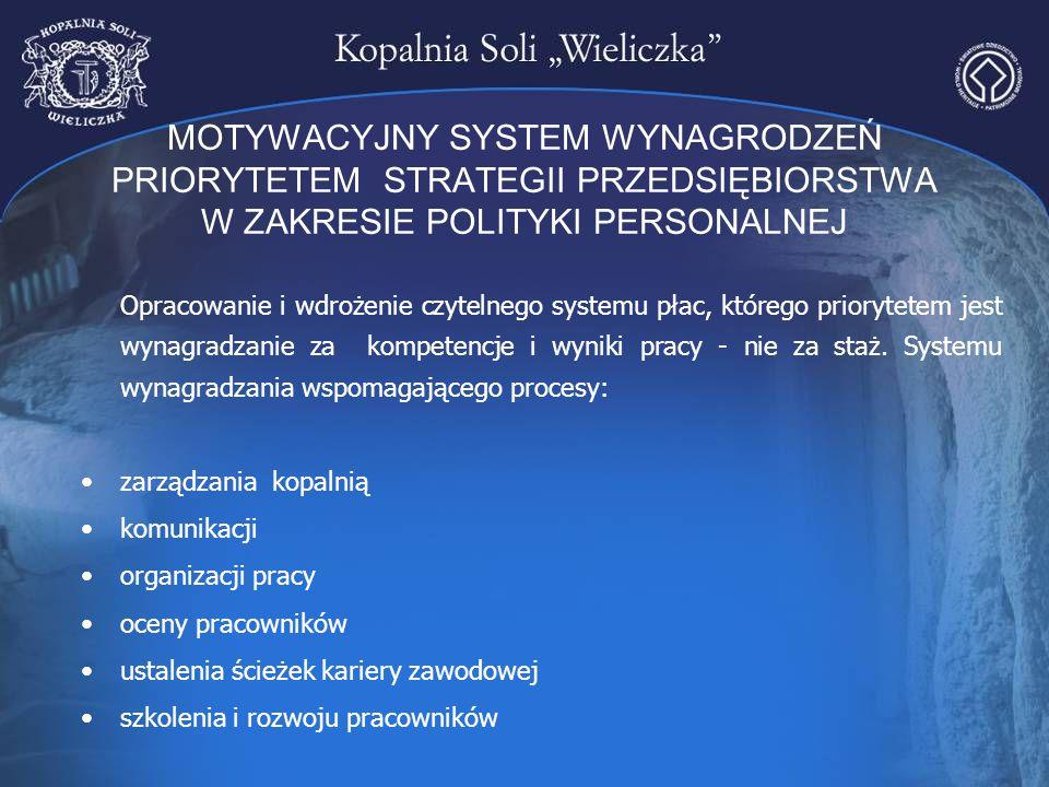MOTYWACYJNY SYSTEM WYNAGRODZEŃ PRIORYTETEM STRATEGII PRZEDSIĘBIORSTWA W ZAKRESIE POLITYKI PERSONALNEJ