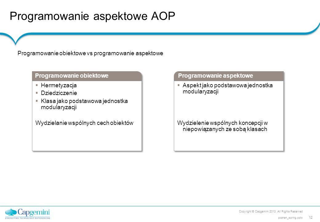 Programowanie aspektowe AOP
