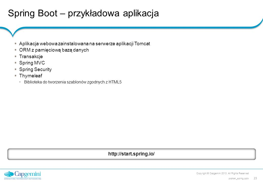 Spring Boot – przykładowa aplikacja