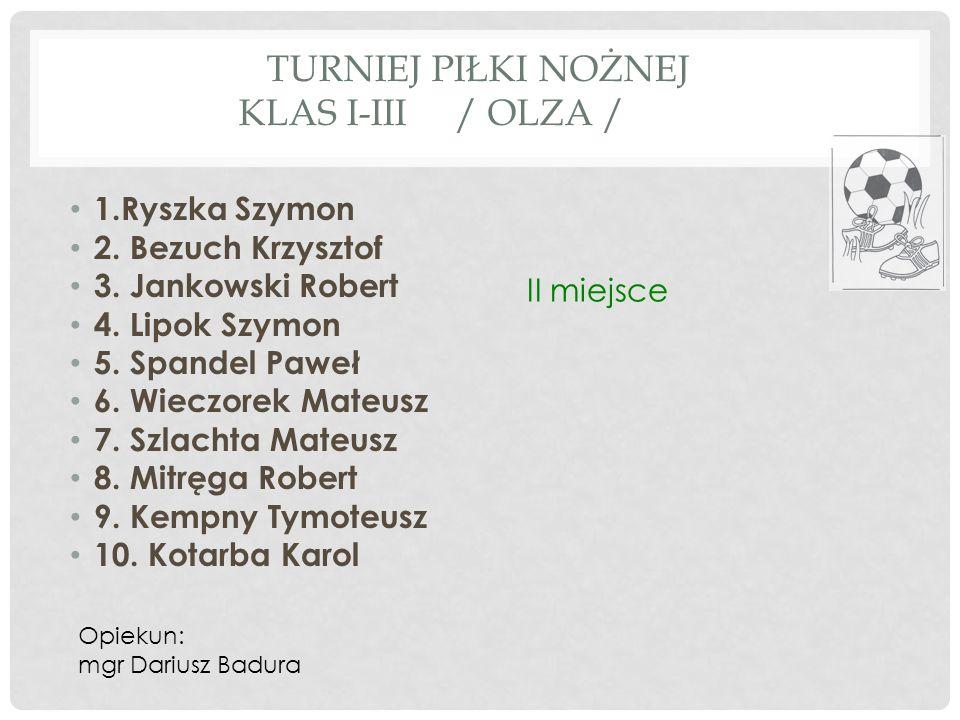 TURNIEJ PIŁKI NOŻNEJ KLAS I-III / OLZA /
