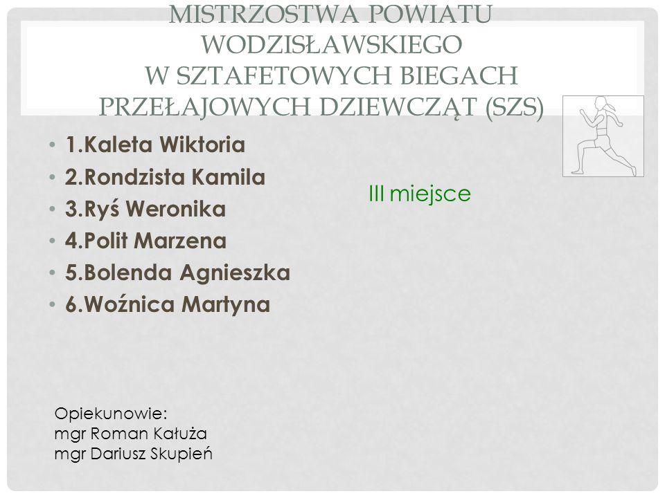 Mistrzostwa Powiatu Wodzisławskiego w sztafetowych biegach przełajowych dziewcząt (SZS)