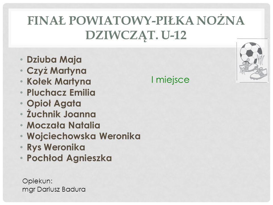 Finał powiatowy-piłka nożna dziwcząt. U-12
