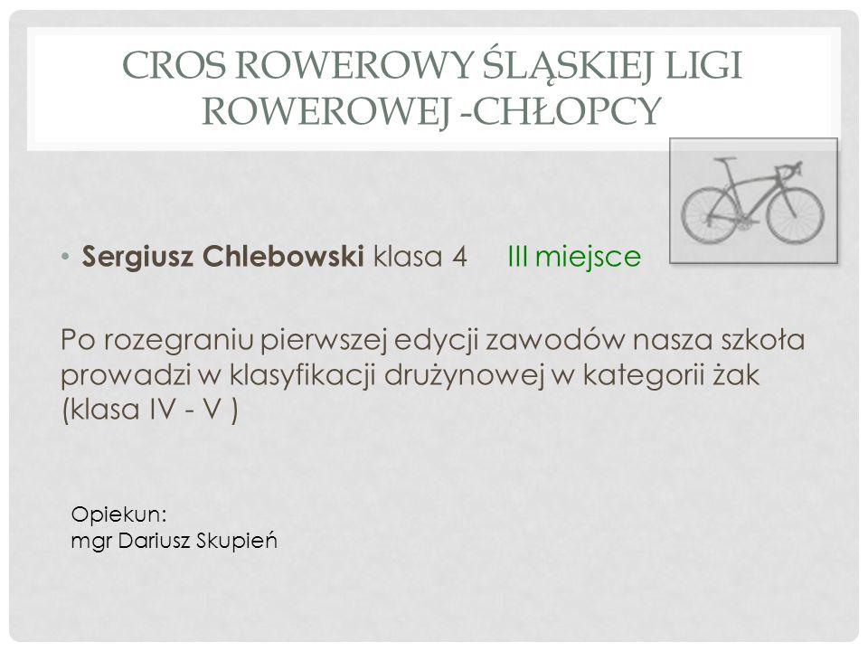 Cros Rowerowy Śląskiej Ligi Rowerowej -chłopcy