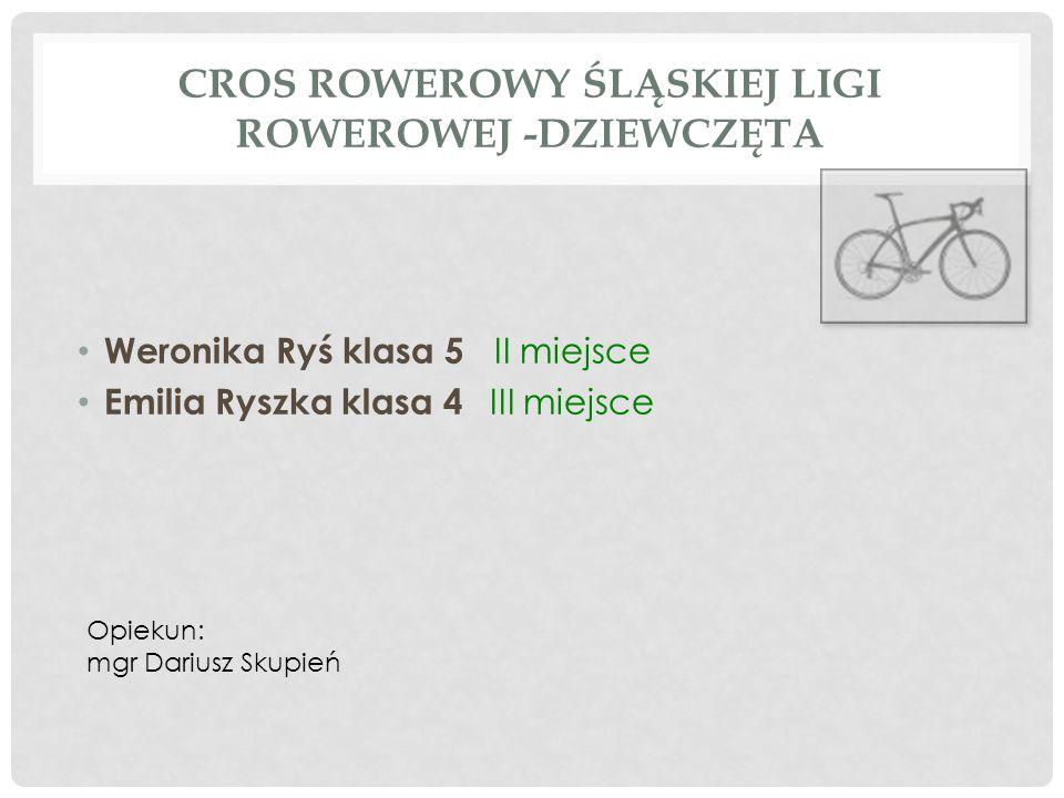 Cros Rowerowy Śląskiej Ligi Rowerowej -dziewczęta