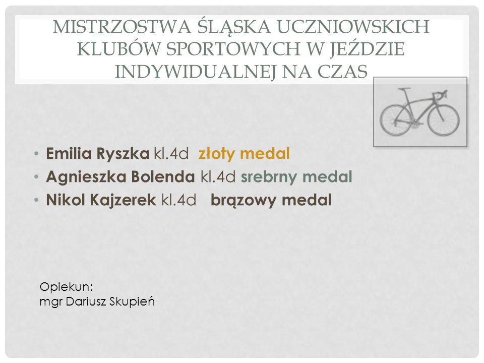 Mistrzostwa Śląska Uczniowskich Klubów Sportowych w jeździe indywidualnej na czas