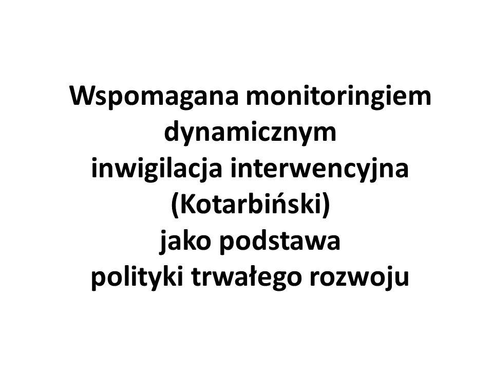 Wspomagana monitoringiem dynamicznym inwigilacja interwencyjna (Kotarbiński) jako podstawa polityki trwałego rozwoju