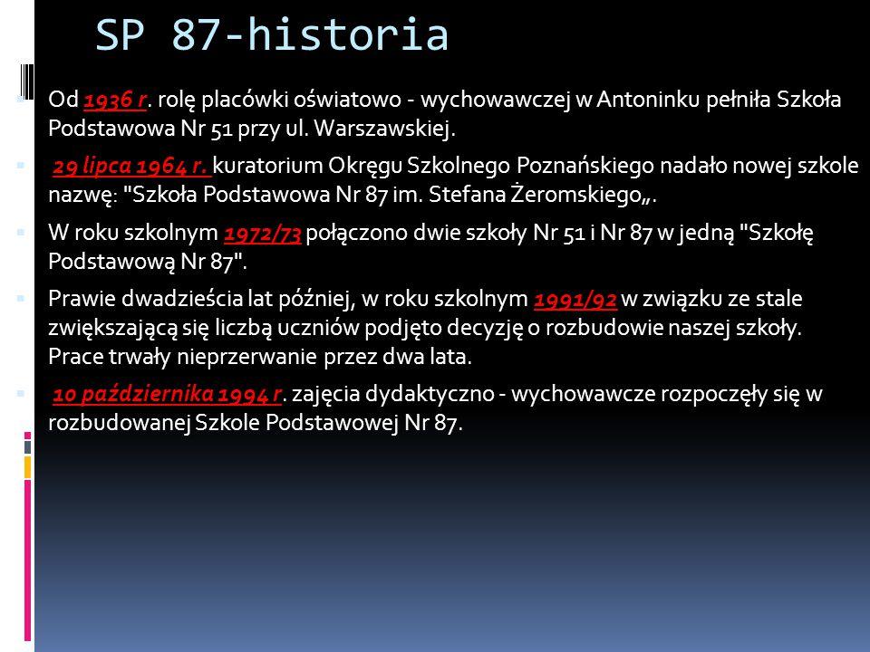 SP 87-historia Od 1936 r. rolę placówki oświatowo - wychowawczej w Antoninku pełniła Szkoła Podstawowa Nr 51 przy ul. Warszawskiej.