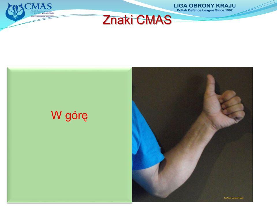 Znaki CMAS W górę