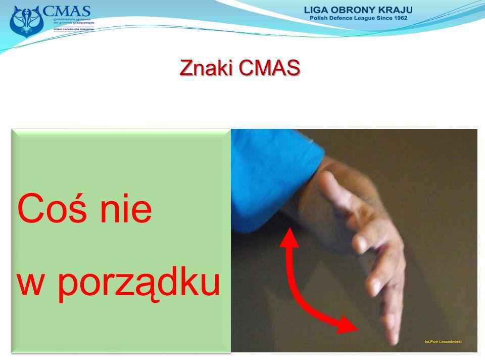 Znaki CMAS Coś nie w porządku