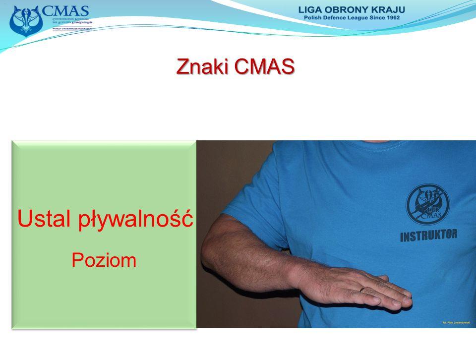 Znaki CMAS Ustal pływalność Poziom