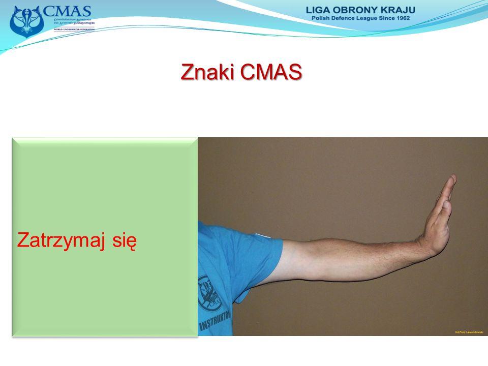 Znaki CMAS Zatrzymaj się