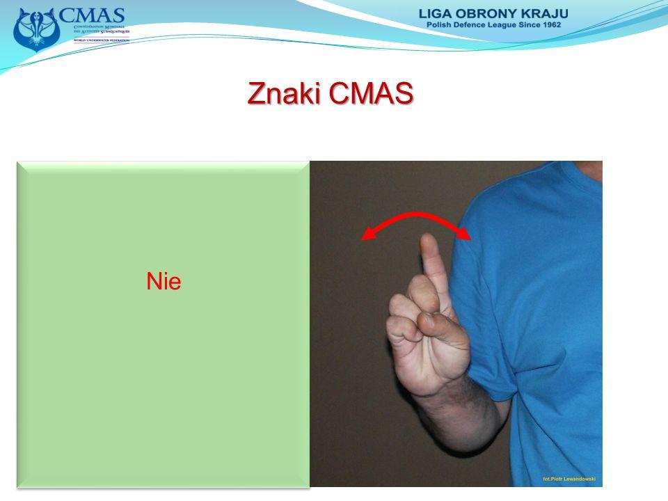 Znaki CMAS Nie