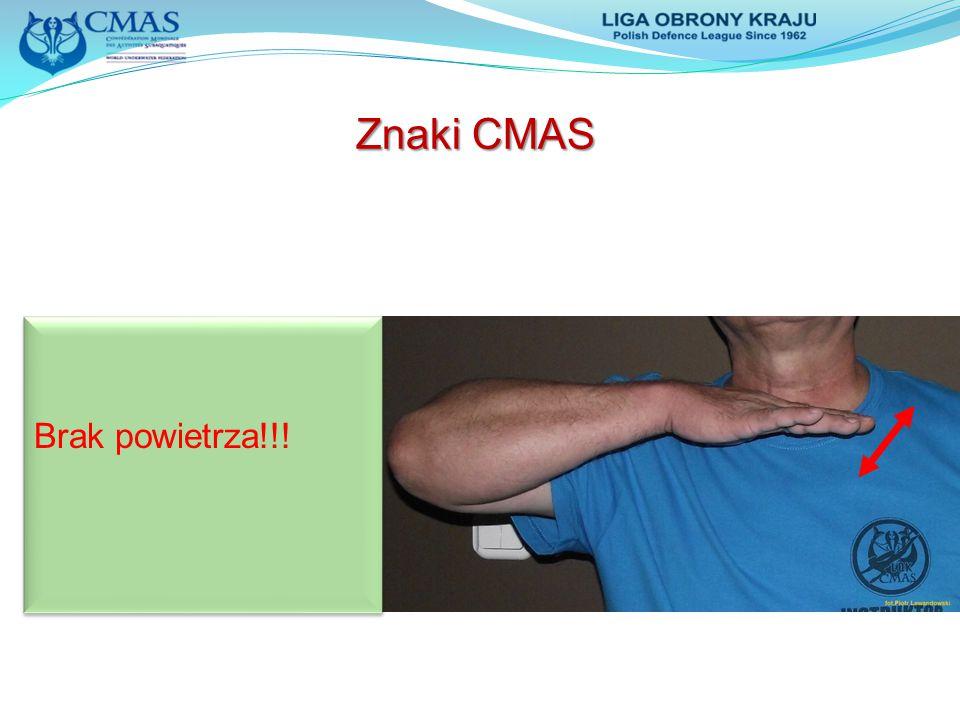 Znaki CMAS Brak powietrza!!!