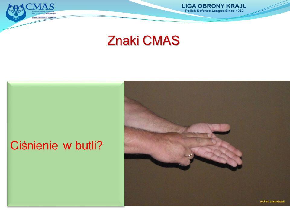 Znaki CMAS Ciśnienie w butli