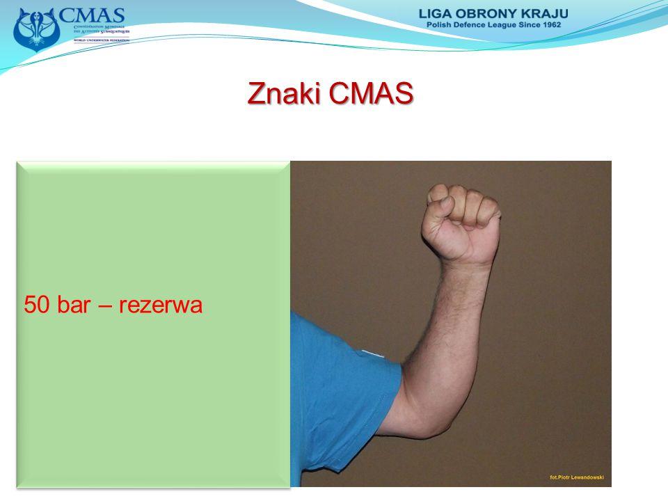 Znaki CMAS 50 bar – rezerwa