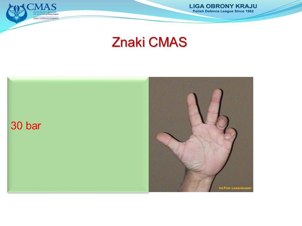 Znaki CMAS 30 bar