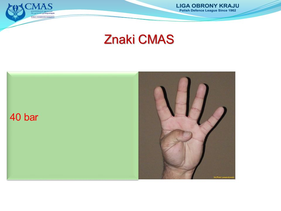Znaki CMAS 40 bar