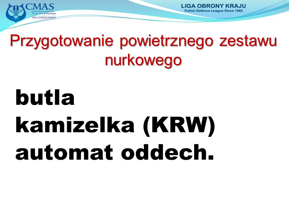 butla kamizelka (KRW) automat oddech.