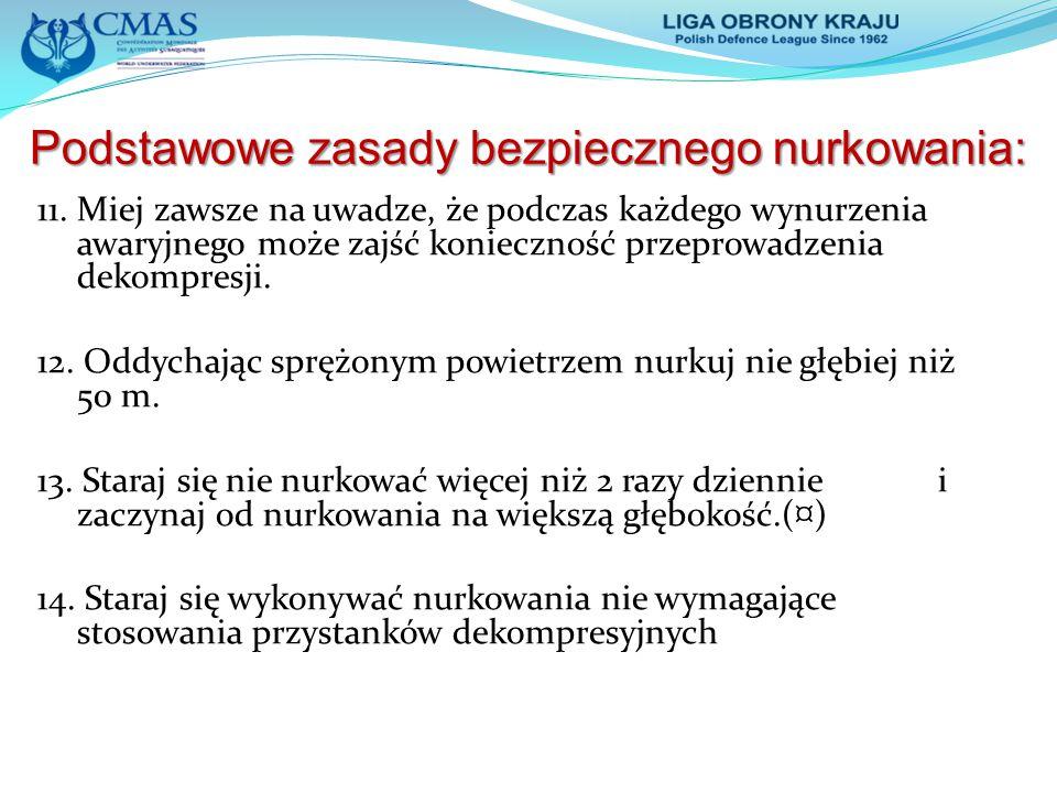 Podstawowe zasady bezpiecznego nurkowania: