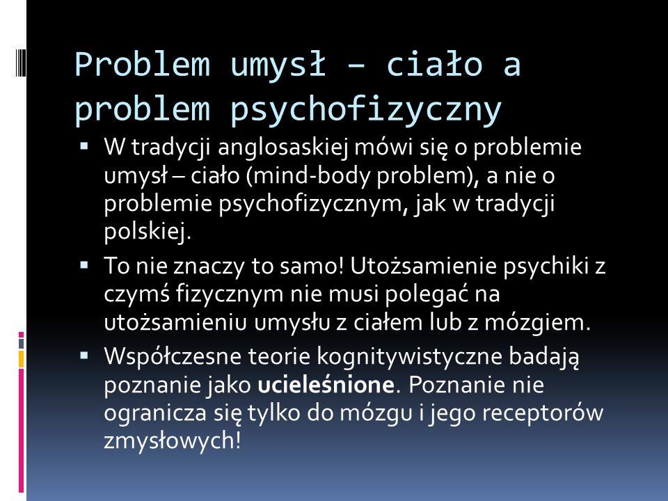Problem umysł – ciało a problem psychofizyczny