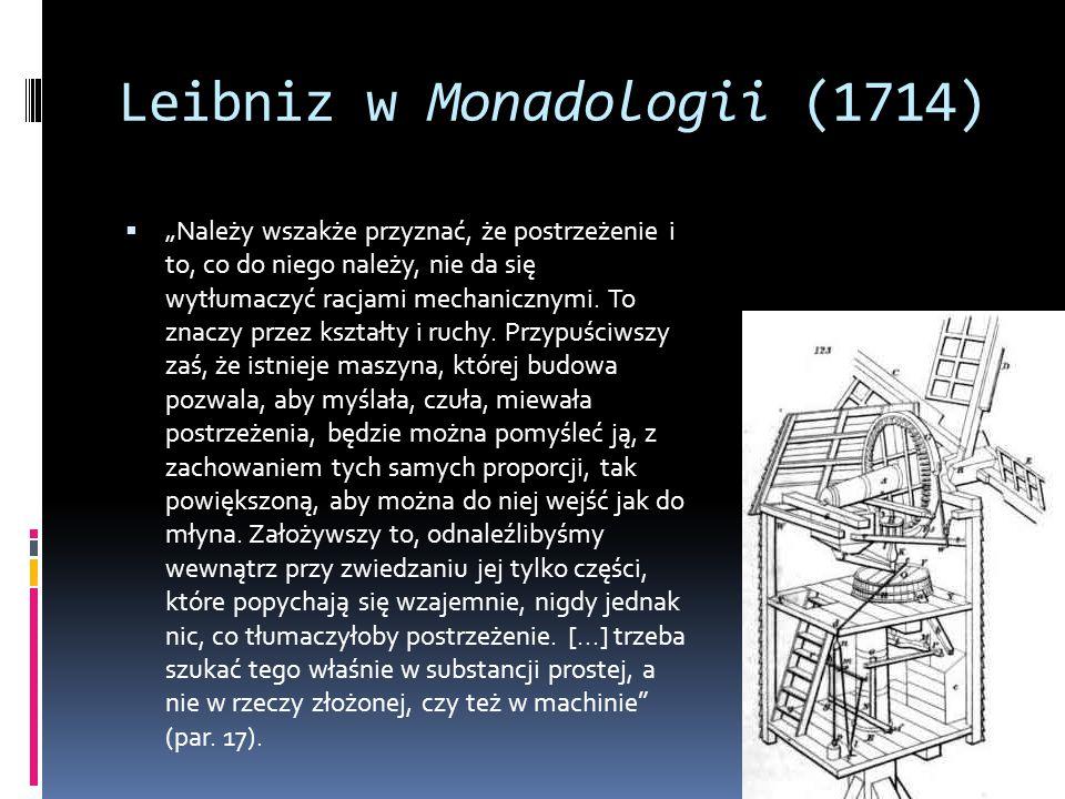 Leibniz w Monadologii (1714)