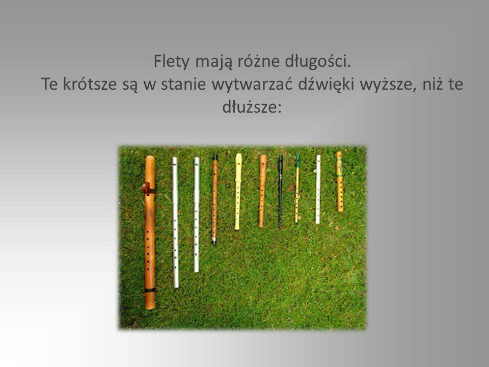 Flety mają różne długości