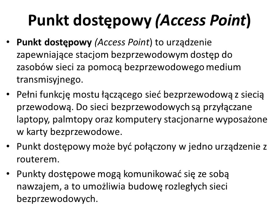 Punkt dostępowy (Access Point)
