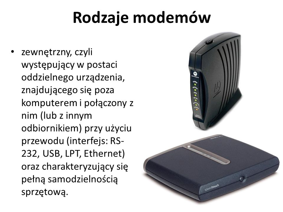 Rodzaje modemów
