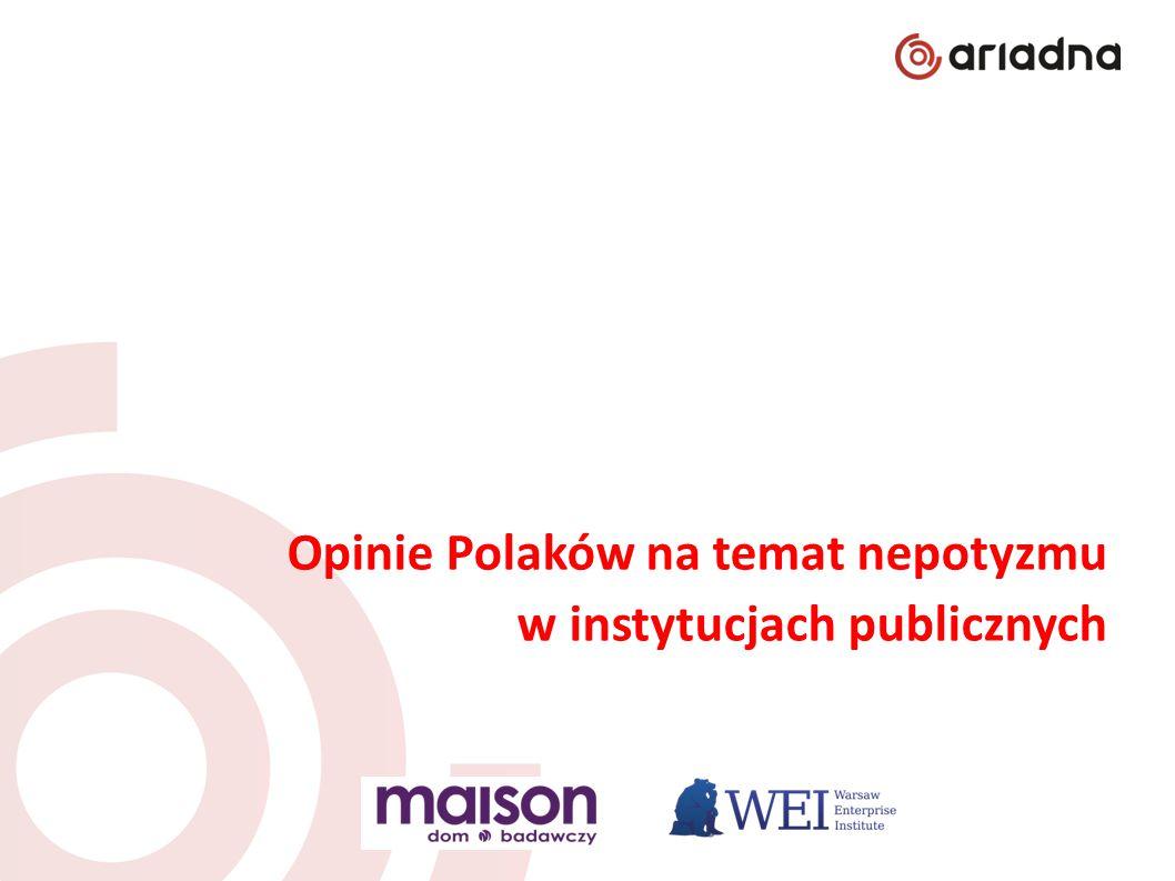 Opinie Polaków na temat nepotyzmu w instytucjach publicznych