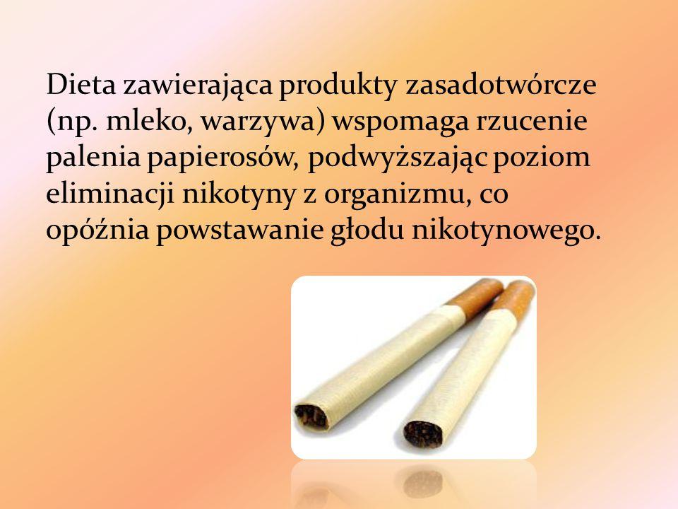 Dieta zawierająca produkty zasadotwórcze (np
