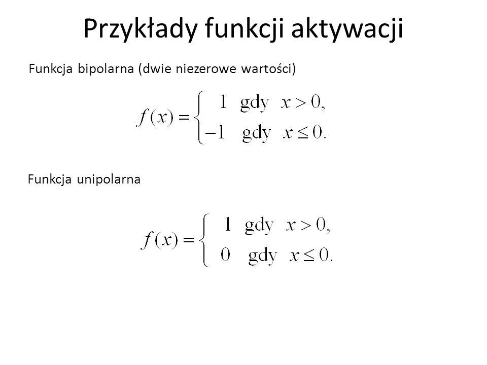 Przykłady funkcji aktywacji